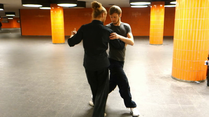 Max dancing with Roberto L'Ange at the TangoForge ICC Sessions, January 2015. Camera Thomas Conte http://thomasconte.net/tango/