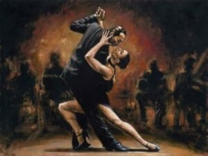 Fabian Perez tango painting