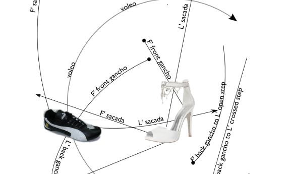 drawing rect shoes blackonwhite