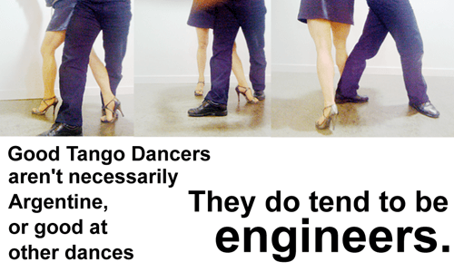 Engineers are good at Argentine Tango