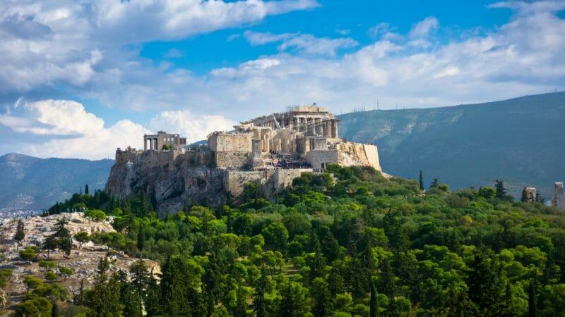 greece athens view of the  Acropolis e