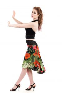 the signature skirt in maui garden  poema clothing