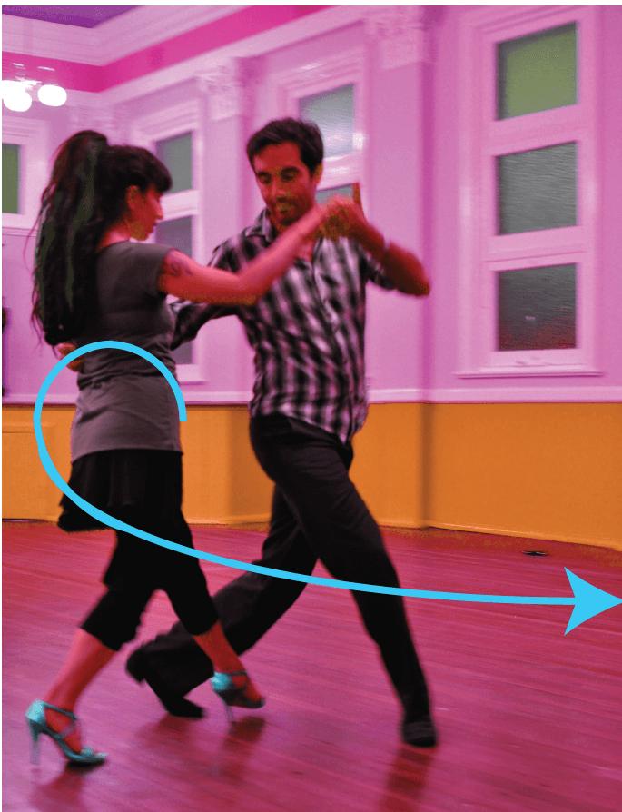 Tango vertical circle