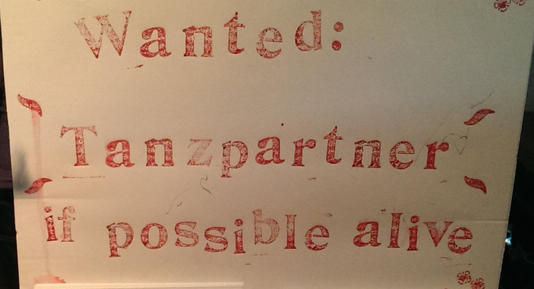 wanted tanzpartner